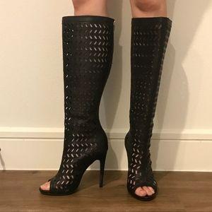 JustFab Bellona Black Heels